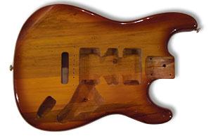 Neuer Erle-Body für Gitarrenprojekt