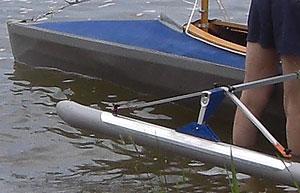 Faltboot Schwimmer
