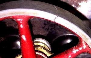 Schwungrad Fleischmann 120/4 mit Haarriss