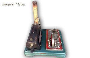 Dampfmaschine Fleischmann 120/4 Baujahr 1958