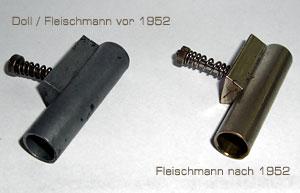 Vergleich Zylinder 120/4 Guss und Messing