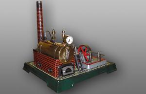 Fleischmann Dampfmaschine Ansicht von rechts oben