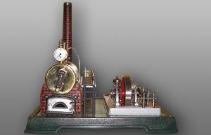 Fleischmann Dampfmaschine Ansicht von vorne