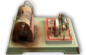 Eine alte Fleischmann Dampfmaschine
