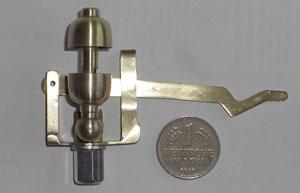 Die Domdampfpfeife der D21 mit neu erstellter Messinghalterung