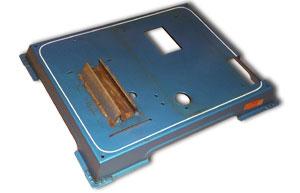 Die nackte Grundplatte der D16