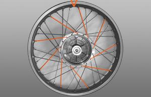 Zweiter Abschnitt Radeinspeichen