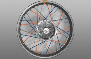 Vierter Abschnitt Rad einspeichen
