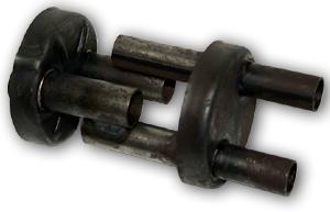 Schalldämpfereinsatz Sperber mit 2 Rohren
