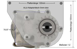 Adapterplatte für Getriebe