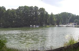 Aussicht vom Zeltplatz auf den See